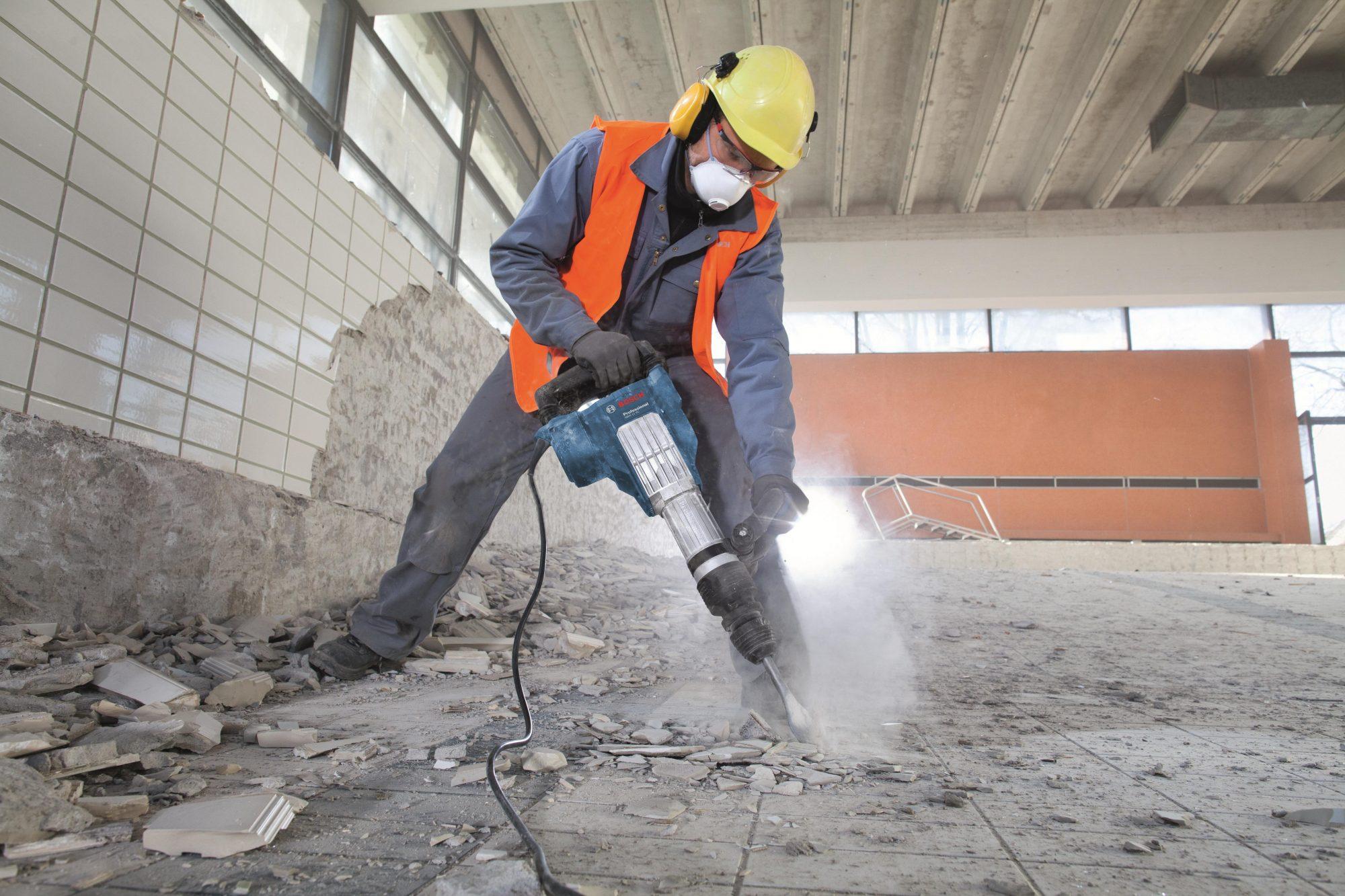 Демонтаж бетонного пола, частичный демонтаж - youtube.