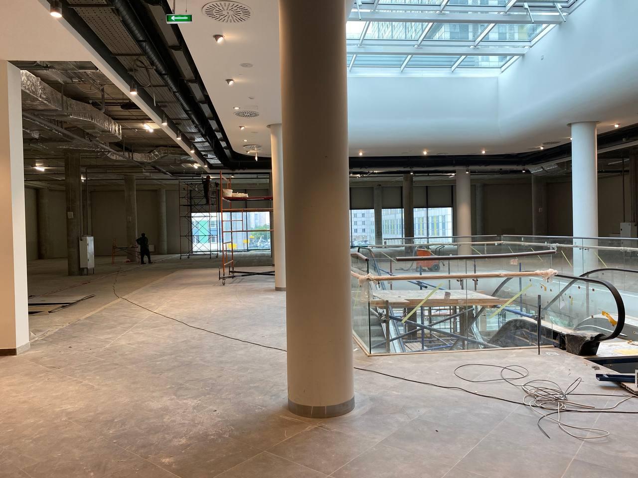 Строительство многофункционального центра Янтарь вступило в завершающую стадию!